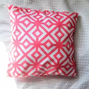 PILLOW COVER (PINK&WHITE)